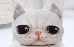 Подушка 3D 3Д реалистичная Кот для подарка