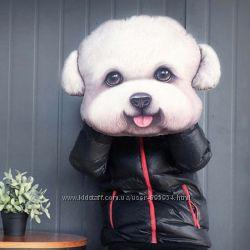 Подушка 3Д Собака декоративная качественная