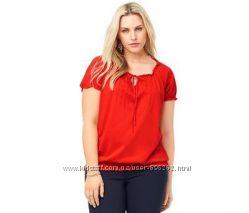 Красивая футболка-блуза с вышивкой, хлопок, от тсм Чибо Tchibo, 42-46