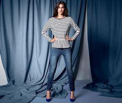 Стильные плотные джинсовые треггинсы от тсм tchibo чибо, германия, 42-44