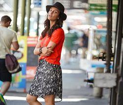 Красивая шифоновая юбка от тсм Чибо Tchibo, Германия, размер укр 38-42