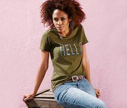 Стильная женская хлопковая футболка от тсм Tchibo чибо, Германия, XXS-XS