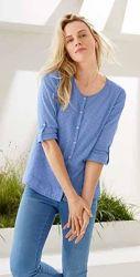 Нежная рубашка, блуза шамбре из хлопка от ТСМ Чибо Tchibo, Германия, S-M
