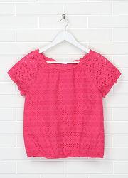 Стильная детская хлопковая блузка, блуза, футболка от C&A, Германия, на 9-10