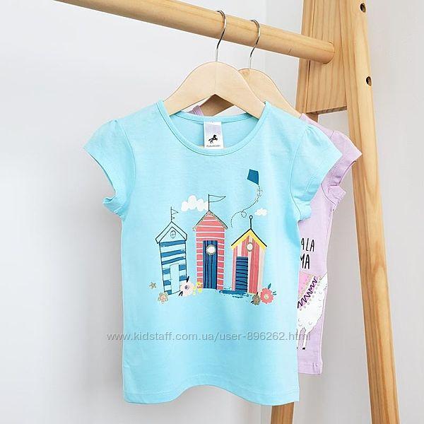 Стильная детская хлопковая футболка для девочки от C&A Palomino, на рост 134