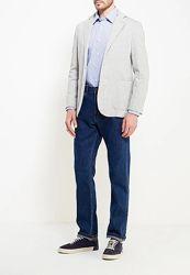 Стильная мужская хлопковая рубашка в клетку от Marks&Spencer, L-XL, ворот 43
