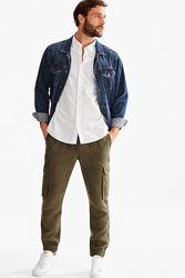 Стильная мужская хлопковая рубашка в горох от Angelo Litrico C&A, XXL,45-46