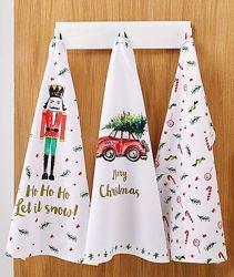 Шикарный набор рождественских кухонных хлопковых полотенец от тсм Tchibo