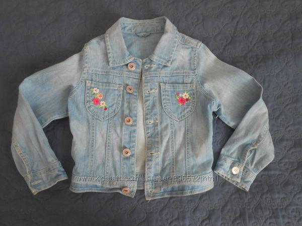 Очень красивый джинсовый пиджак для девочки Тм Mothercare