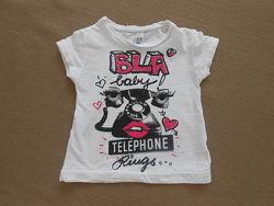 Милая футболочка для девочки Тм Zara