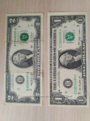 2  доллара США 2003 1 доллар США 2009
