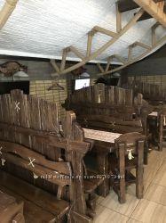 Продаётся комплект деревянной мебели для бара, ресторана, дачи.
