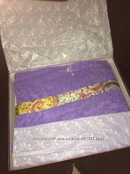 Котоновый халат с каймой размер S