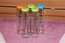 Бутылки стеклянные для консервации или косметики 200 мл