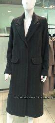 Пальто шерсть демисезонное новое, миди-макси, тёмно серое с поясом