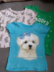 Красивые футболки на девочку 3 года НМ и Сhildren&acutes place