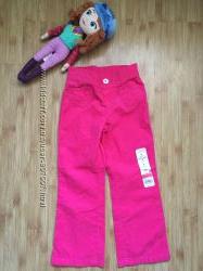 Яркие вельветовые штаны на девочку на 4 года