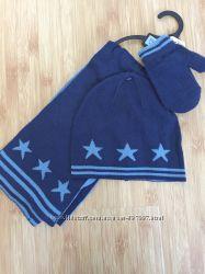 Комплект шапка, шарф и варежки TescoF&F на 2года