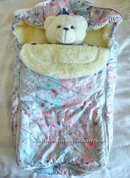 Теплый детский конверт на овчине