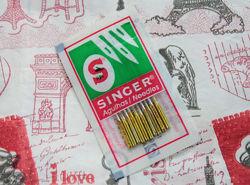 Иглы швейные Singer 80, 90, 100, 110, 130 п 10шт, к бытовым швейным машинам