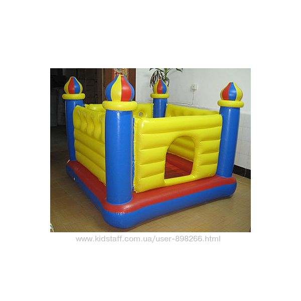 Батут детский надувной 175х175х135см Замок Intex, 48259