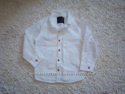 Фирменные рубашки на 1, 5-2 года, 18-24 мес с длинным и коротким рукавом