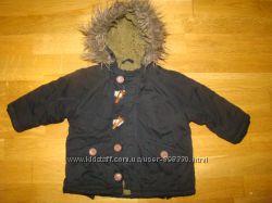 Демисезонная куртка парка Zara baby на 9-12 месяцев р. 78