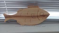 Доска разделочная деревянная РЫБКА