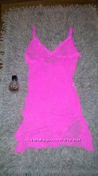 Кружевное бельё, розовое, комбинация 42р, 44р  S, M,