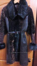Дубленка женская натур мех овчина и бобер 42р-44р , S, M