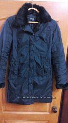 Куртка, пальто женское демисезон , мех кролика, 42р-44р , S, M