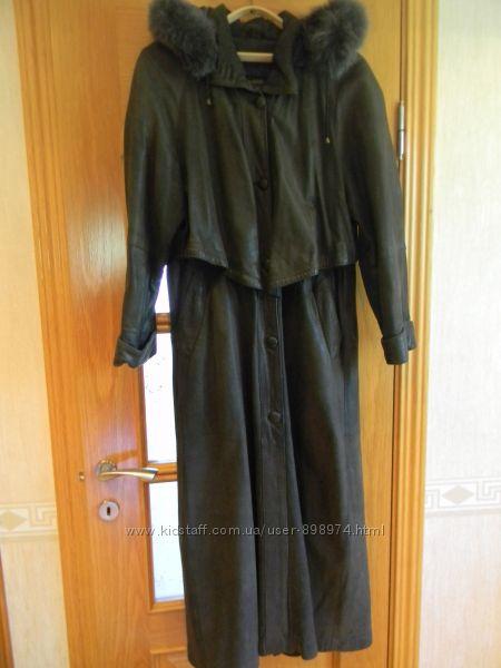Продам кожаный плащ-пальто