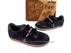 Натуральные кроссовки на липучке, Bistfor, размеры с 32 по 36