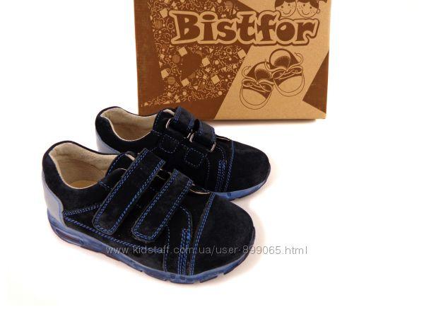 Натуральные кроссовки на липучке, Bistfor, с 26 р по 30 р, возм. примерка