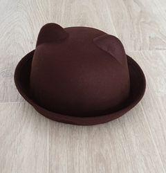 Шляпа с ушками в отличном состоянии