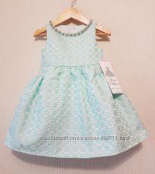 Нарядное платье мятного цвета на девочку на 2 года от Rare Editions