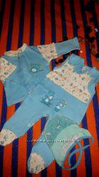 Комплект для новонародженого хлопчика, розмір 56-62