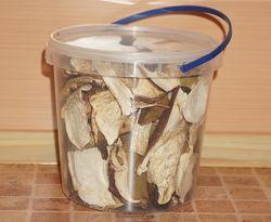 Белые грибы Карпатские сушеные в объеме 1 литр 2020 года