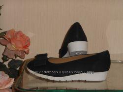 Туфли из натуральной кожи с супинатором Германия чёрные и синие