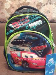 Ортопедический рюкзак Винер Winer для мальчика 1-4 класса Тачки, Мотоцикл