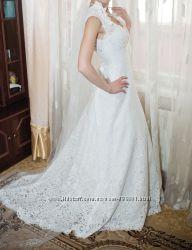 продаю нежное свадебное платье 42-44 р