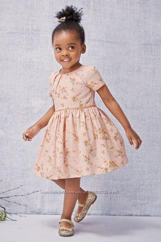 Нарядное платье с цветами NEXT, некст, 3-4 года.