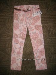 Красивые штанишки, джинсы для девочки, 3-4 года, Польша.