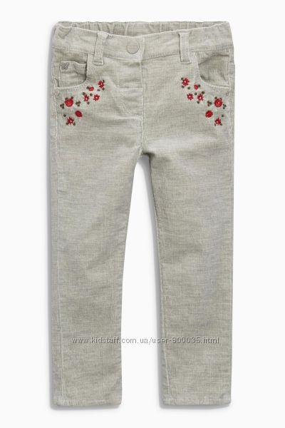 Серые вельветовые брюки некст, NEXT, 5-6 лет.