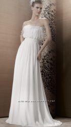 Свадебное платье. Франция. Перья. С-М