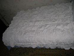 Одеяло-покрывало 115х145 белое жатое двустороннее