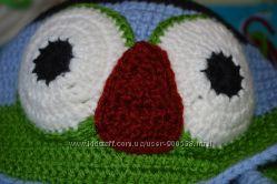 Крутая шапка-сова для малыша Hand made