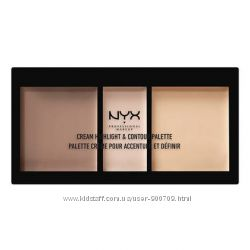 NYX Professional Makeup Cream Highlight and Contour Palette оттенок Medium