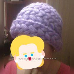 шапка крупной вязки