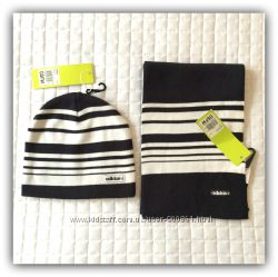 Комплект шапка и шарф Adidas Neo Beanie Scarf P86887 P86901. оригинал.